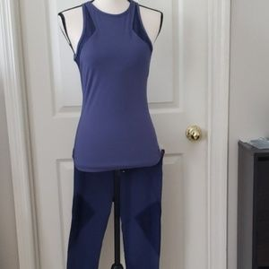 Fabletics Purple Exercise Set Tank Leggings Yoga S